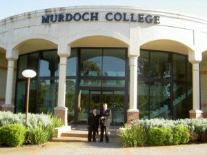 Wendy with Mr Allen Meney, Principal of Murdoch College