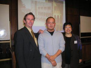 Mr Tony de Gruchy & Wendy Kuah with Nicholas Zheng,
